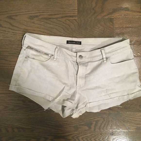 Abercrombie & Fitch Pants - Abercrombie white denim shorts